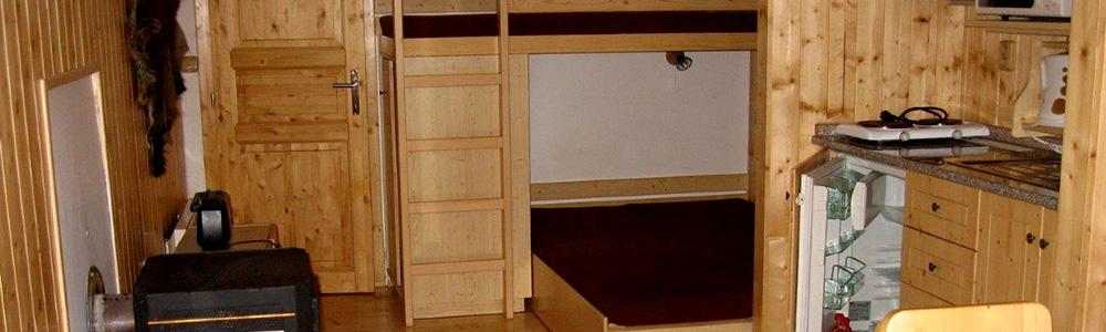 Srubová chata Stadard - Hlavní místnost