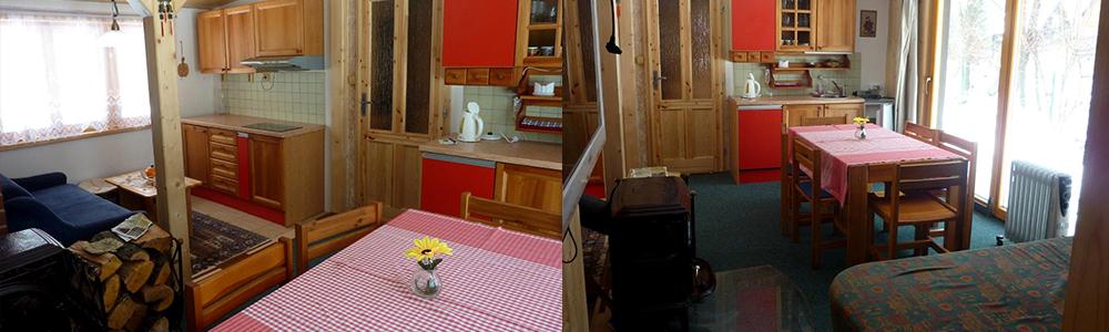 Srubová chata Lux - Hlavní místnost