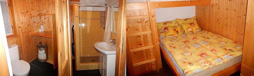 Srubová chata Lux – Ložnice a sociální zařízení