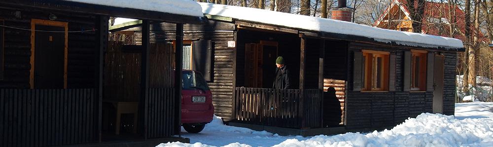 Sruby Peřeje - zima a sníh