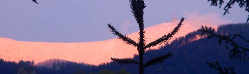 Lysá hora - pohled z Ostravíce